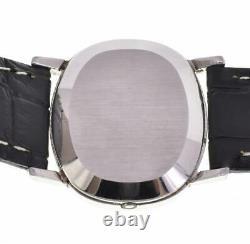 OMEGA de vill Push crown Silver Dial SS/Leather Quartz Men's Watch S#100462