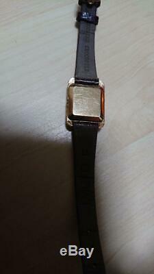Omega De Ville Push Gold Plating Antique Vintage Men's Watch Stainless Steel