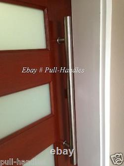 One Sided Modern Interior Exterior Long Door Push Pull Handle Stainless Steel