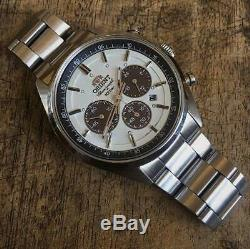 Orient Solar charging Neo 70's Watches Milky white Push three fold type Quartz
