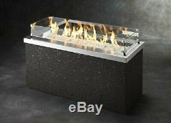 Outdoor GreatRoom Company Key Largo Fire Pit, Stainless Steel, Push Button Ignit