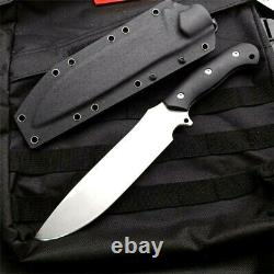 Premium Drop Point Knife Hunting Combat Tactical G10 Handle DC53 Steel Blade Cut