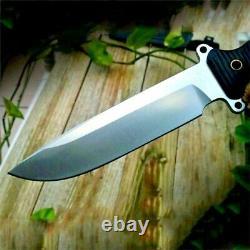 Premium Drop Point Knife Hunting Combat Tactical Survival DC53 Steel G10 Handle