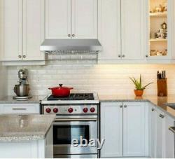 Presenza 30 in. Under Cabinet Ducted Range Hood with Light and Push Button