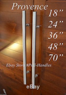 Pull Handle Front Door Push Entry Entrance Wood Glass Stainless Steel