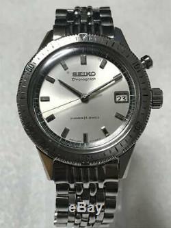 SEIKO 5717-8990 Crown One Push Chronograph 1964 Vintage Manual Men's SS MIJ 1215