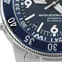 SEIKO 5 Sports SKZ209J1 Blue Dial Atlas Compass Ring Japan Made Mens 200m Watch