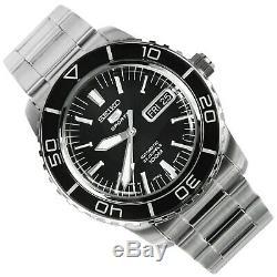 SEIKO 5 Sports SNZH55 SNZH55J Black FiftyFive Fathoms Japan Automatic Mens Watch