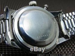 SEIKO CROWN One Push Chronograph 45899 Manual Vintage Watch 1964's Overhauled