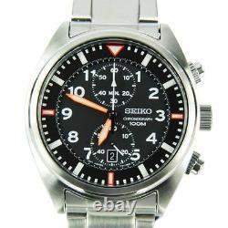 SNN235P1 SNN235P SNN235 Seiko Chronograph WR100m Quartz Stainless Strap Watch