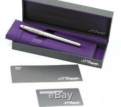 S. T. Dupont Olympio Stainless Steel Push Cap 5.25 Fountain Stylos Pen