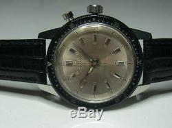 Seiko 5719A Rare 21 Jewels One Push Chrono Manual Hand Wind Auth Men Watch Works