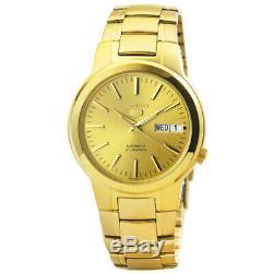 Seiko 5 SNKA10 K1 All Gold Stainless Steel Men's Automatic Analog Dress Watch