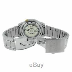 Seiko 5 SNKK29 K1 Silver With Yellow Dial Men's Automatic Analog Watch