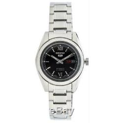 Seiko 5 SYMK27 K1 Silver With Black Dial Small Women's Automatic Analog Watch