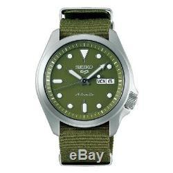 Seiko 5 Sports Green Dial Green Nylon Strap Men's Watch SRPE65K1 AU4