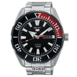 Seiko 5 Sports SRPC57 K1 Black Dial Stainless Steel Men's Automatic Analog Watch