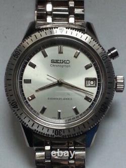 Seiko One push chrono 5717-8990 Good Accuracy UNUSED NM