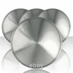 Set of Four 15 Polished Stainless Steel Hubcap Wheel Covers (Push-on)