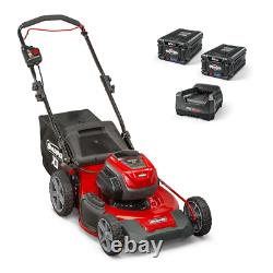 Snapper XD Lawn Mower 21 Manual Push Cordless Electric 2 Batteries Charger