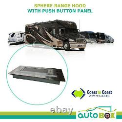 Sphere Recessed Caravan Rangehood LED Light Push Button Stainless Steel 12 Volt