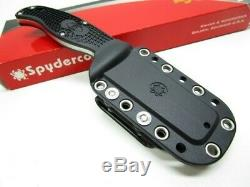 Spyderco FB31PBK Black FRN Enuff Fixed Plain Leaf Shaped Vg-10 Knife + Sheath