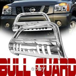 Stainless Chrome Bull Bar Push Bumper Grille Guard For 02-09 Trailblazer/Envoy