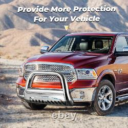 Stainless Steel Front Bull Bar Bumper Grille Guard For 2009-2016 Dodge Ram 1500