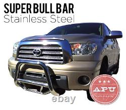 Stainless Super Bull Push Bar Brush Bumper Guard Fits 2008-10 Toyota Highlander