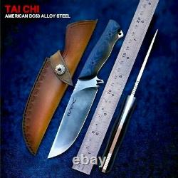 Straightback Knife Fixed Blade Hunting Combat Tactical DC53 Steel G10 Handle Cut