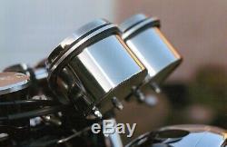 Thruxton & Bonneville Stainless Steel Clock Bottoms Push Button Trip