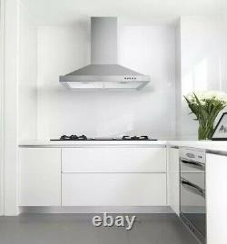 Tieasy 30-in Wall-Mount Range Hood 350-CFM Push Control Over Stove Vent LED Lamp