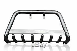 To Fit 2015+ Nissan X-Trail Stainless Steel A Bar Nudge Push Bumper Bull Bar