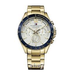Tommy Hilfiger Luke Chronograph Gold Steel Silver Dial Men's Watch 1791121
