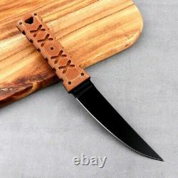 Trailing Point Knife Mini Samurai Hunting Tactical Survival M2 Steel Premium Cut
