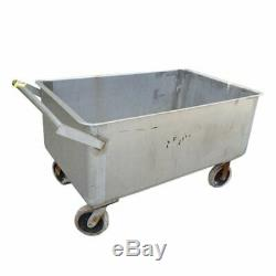 Used Stainless Steel Portable Push Cart