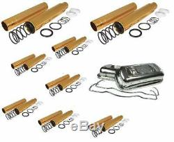 VW SCAT spring loaded push rod tubes & Stainless steel Valve Cover Beetle