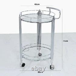 Value Cohen Stainless Steel Drinks Trolley Minibar Party Wine Push Cart Holder