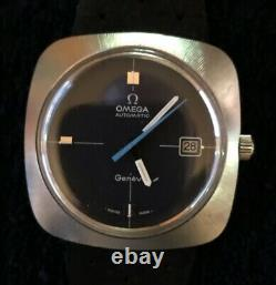 Vintage 1970s Omega Automatic Watch with Push-Pull Crown Date Set