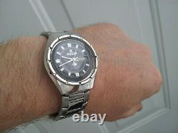 Vintage Mens Ricoh Arcadia 21 Jewels Automatic Push Button Day Date Watch Japan