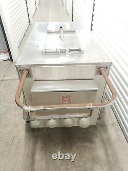 Vintage Worksman Cycles Stainless Steel Ice Cream Push Cart Restoration $1099