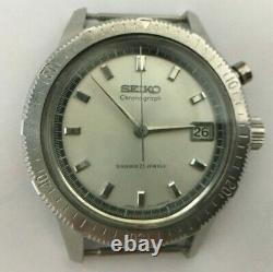 W284 SEIKO 5717-8990 One push chronograph 21J Hand winding Working VG