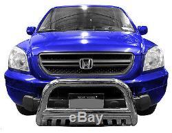 Wynntech Front Bumper Guard with Skid Plate Bull Bar for 2003-2008 Honda Pilot