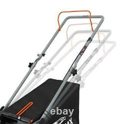 YARDMAX Walk Behind Gas Push Mower Side Discharge Rear Bag Adjustable Height
